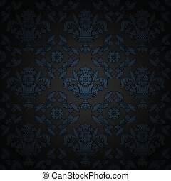 Corduroy background, blue ornamental fabric texture
