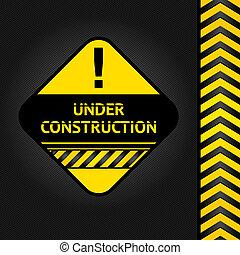 Corduroy black background, under construction