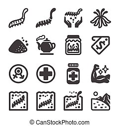 cordyceps icon set