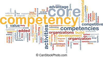 Core competency word cloud - Word cloud concept illustration...