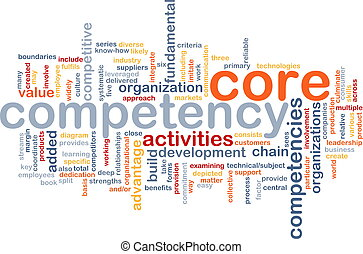 Core competency word cloud - Word cloud concept illustration...