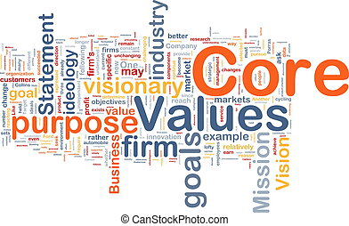 Core values background concept - Background concept...