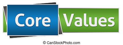 Core Values Green Blue Horizontal