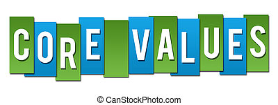 Core Values Green Blue Stripes