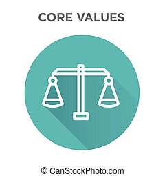 Core Values Icon with Scale and Balance