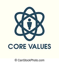 Core Values Outline - Line Icon Conveying Integrity & Purpose