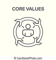 Core Values with Social Responsibility Image - Business Ethics and Trust