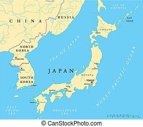corea del norte, japón, sur