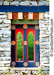 corea, tradición, puerta