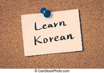 coreano, aprender