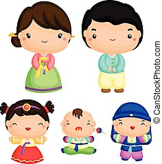 coreano, familia