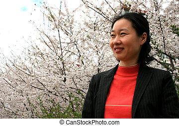 coreano, mulher