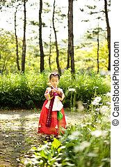 coreano, niño