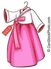 coreano, vestido