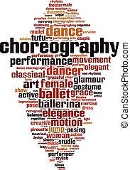 coreografia, parola, nuvola