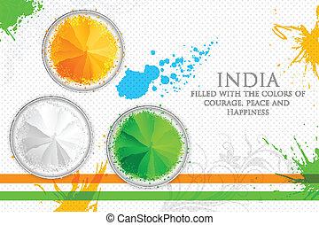 cores, índia