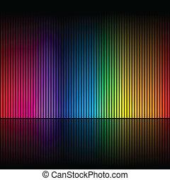 cores, arco íris, abstratos, 1