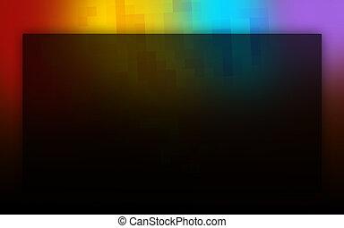 cores, arco íris, abstratos, experiência preta
