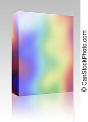 cores arco-íris, caixa, pacote