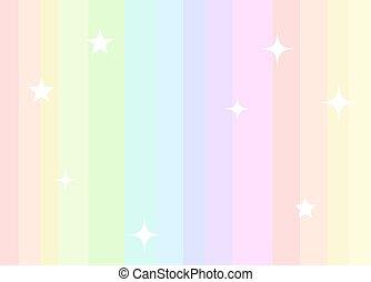 cores, arco íris, fundo, pastel