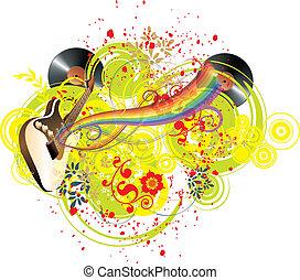 cores arco-íris, música
