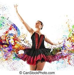 cores, dançarino, clássico