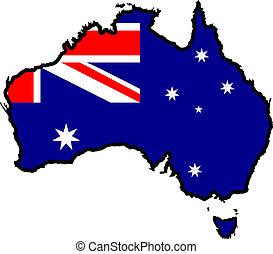 cores, de, austrália