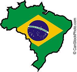 cores, de, brasil