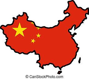 cores, de, china
