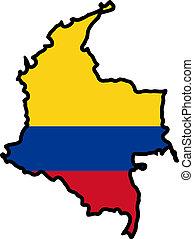 cores, de, colômbia