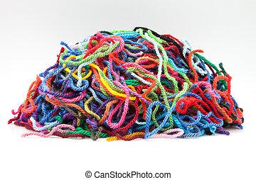 cores, lã