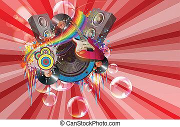 cores, música