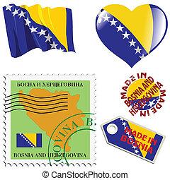 cores, nacional, bósnia