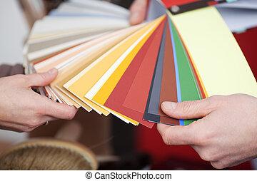 cores, novo, pintura