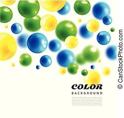 cores, vetorial, moléculas, background.3d, molecule.