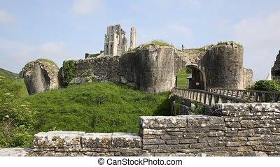 Corfe Castle Dorset England uk - Corfe Castle Dorset England...