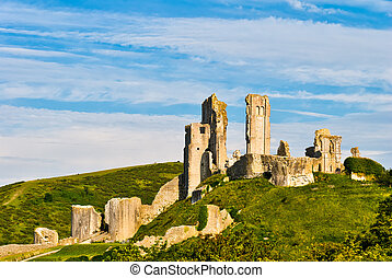 corfe, ruinas, castillo