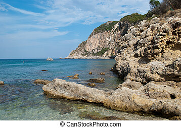 corfu, kust