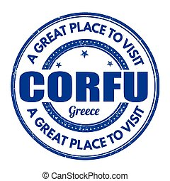 Corfu sign or stamp