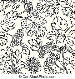 coriander seamless pattern