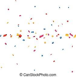 coriandoli, celebrazione, bandiera