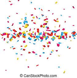 coriandoli, fondo., celebrazione