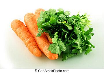 coriandolo, carota