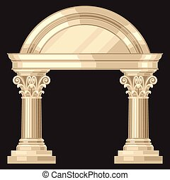 corinthian, 現実的, 骨董品, ギリシャ語, 寺院, ∥で∥, コラム