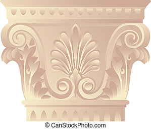 Corinthian capital - Architectonic capital in greek -...