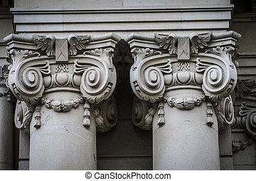 Corinthian capitals, Spanish city of Valencia, Mediterranean arc