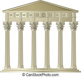 Corinthian capitol - Greece Corinthian Ionic Doric columns