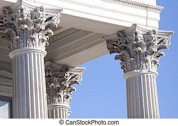 corinthian columns on government building