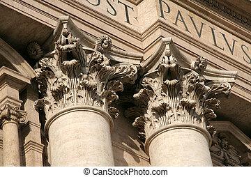 Corinthian columns - Ornate corinthian columns of St....