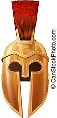 Corinthian helmet - Illustration of a bronze Corinthian or...